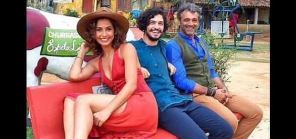 Camila Pitanga, Gabriel Leone e Domingos Montagner: trio deve estar junto na cena final da trama das 9