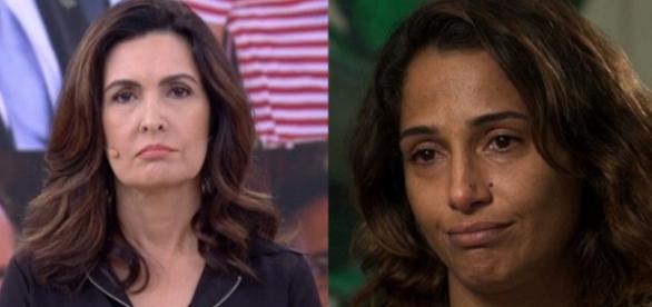 Fátima Bernardes e Camila Pitanga - Foto/Reprodução