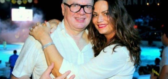 Lírio e Luiza Brunet - Foto/Montagem