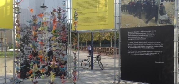 'Milla de la Paz', exposición urbana que apropia parte del Boulevard limítrofe con el Urumea