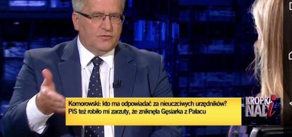 Bezsensowna wypowiedź Bronisława Komorowskiego.