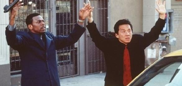 Chan appeared with Chris Tucker in the Rush Hour film trilogy (GETTY IMAGES)