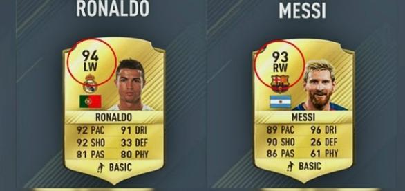 """Estas son las estadísticas de ambos jugadores en """"FIFA 17""""."""