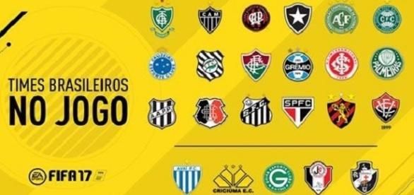 FIFA 2017: Veja os Clubes brasileiros do game