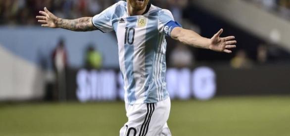 Messi celebrando un gol en una imagen de archivo