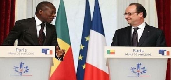 Monsieur François Hollande, président de la république française et son homologue du Bénin, Monsieur Patrice Talon