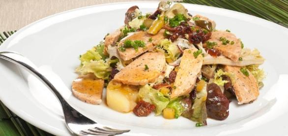 Receta de ensalada de pavo muy ligera