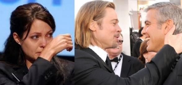 Angelina e Brad Pitt - Foto/Montagem