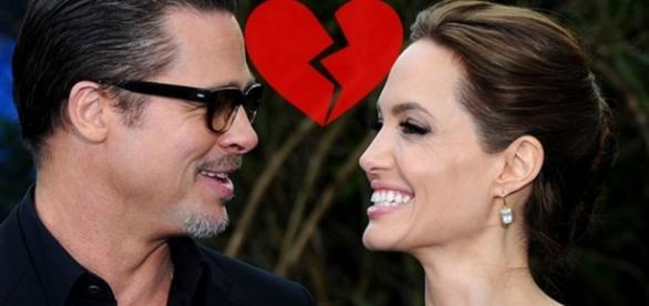 Brad Pitt e Angelina Jolie - Foto/Montagem