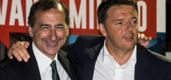 Il Sindaco di Milano Giuseppe Sala e il Primo Ministro Matteo Renzi