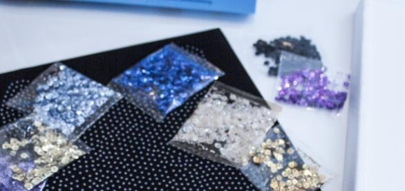 Sequin Art is a series of DIY kits that encourage creativity through design. / Photo via Kelli Dobbins, Productivity PR. Used with permission.