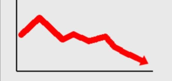 La previsione di aumento del Pil italiano è in calo ripetto alla precedente