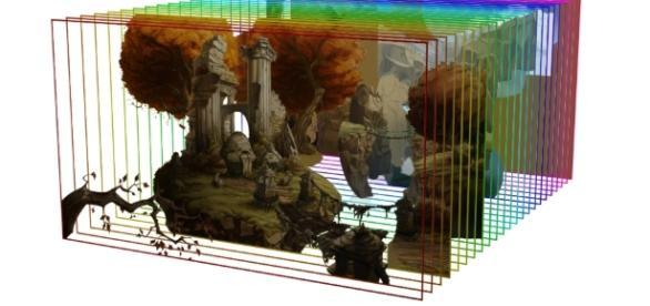Ejemplo de imágenes en diferentes planos para la creación de un parallax.