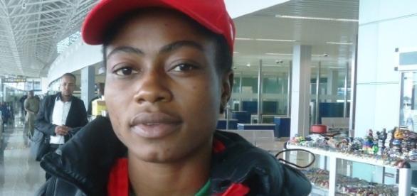 La lutteuse camerounaise Emilienne Essombè Tiako. Crédit Photo: Josiane Kouagheu