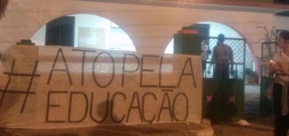 Foto: IFBA campus Paulo Afonso ocupado por estudantes