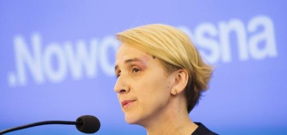 Joanna Scheuring-Wielgus zmasakrowana przez Roberta Mazurka.