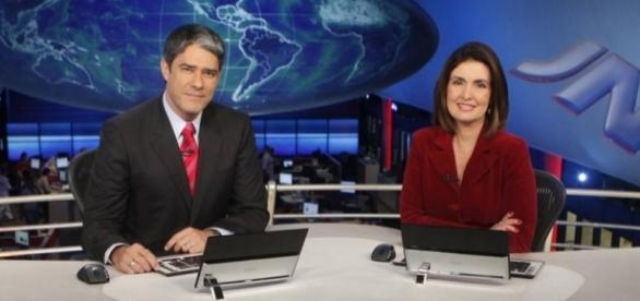 O antigo casal já trabalhou junto no Jornal Nacional