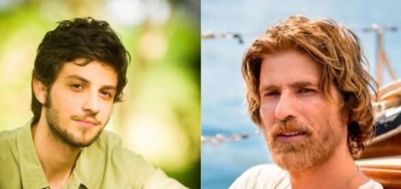 Chay Suede e Reynaldo Gianecchini interpretam o Pedro em A Lei do Amor