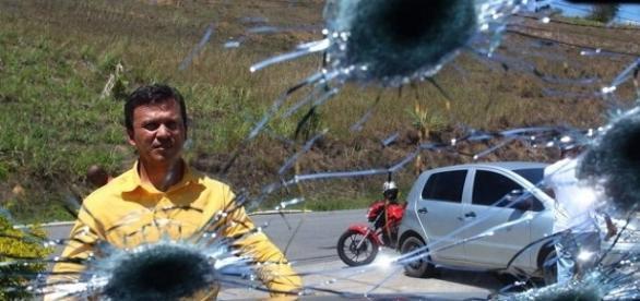 O candidato a prefeito de Japeri foi vítima de um atentado