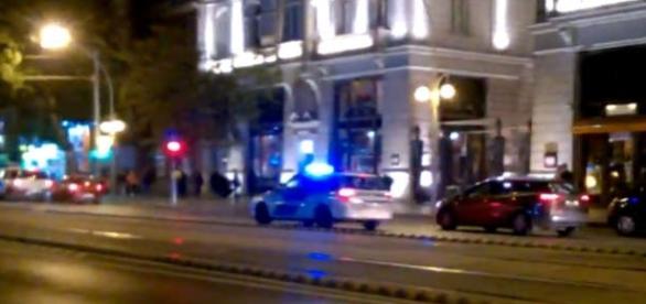 """O """"bombă din cuie"""" a explodat în centrul Budapestei - Foto: captură Twitter"""
