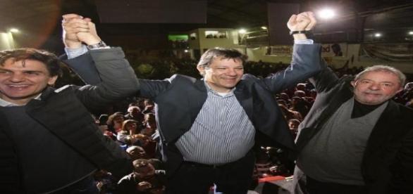 Lula apoiou Haddad em evento neste domingo