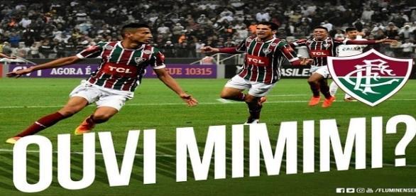 Por rede social, Fluminense provoca Corinthians após vitória no Brasileirão (Foto: Twitter Oficial do FFC)