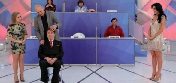 Silvio Santos 'vê' Helen Ganzarolli nua em seu programa