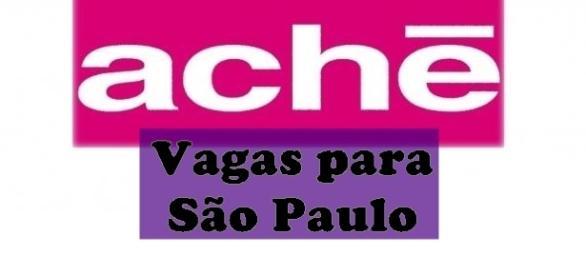 Aché abre vagas para São Paulo
