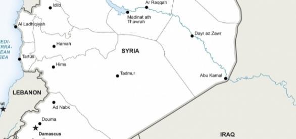 Mapa da Síria. Crédito: Pixabay