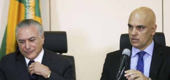 Presidente Michel Temer teria ficado insatisfeito com polêmica gerada pela declaração Alexandre de Moraes. (Foto: Marcelo Camargo/ Agência Brasil)