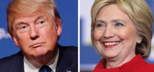 Trump e Clinton em primeiro debate memorável