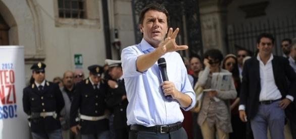 Matteo Renzi a Sulmona (L'Aquila) nel 2012