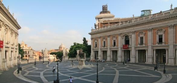 Una immagine del Campidoglio, la sede di rappresentanza del Comune di Roma