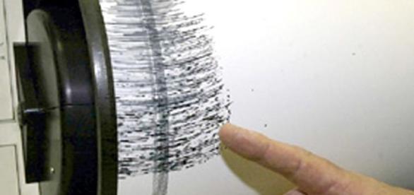 Una immagine di inmeteo.net che segna le scosse di un terremoto