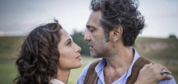 Camila Pitanga emocionou ao gravar a cena de casamento sem o colega de elenco, Domingos Montagner