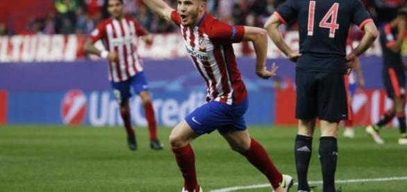 Celebración de Saúl tras el gol de Carrasco. Fotografía: REUTERS