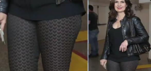 Fátima usa calça transparente - Imagem/RedeTV
