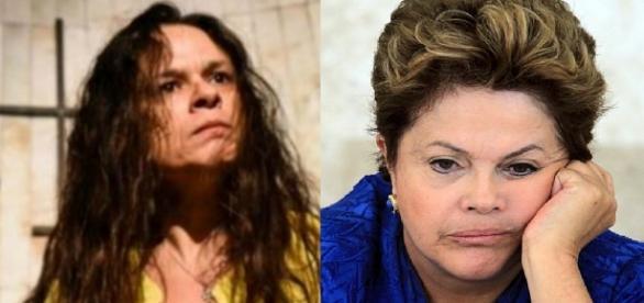 Janaína Paschoal e Dilma Rousseff - Foto/Montagem