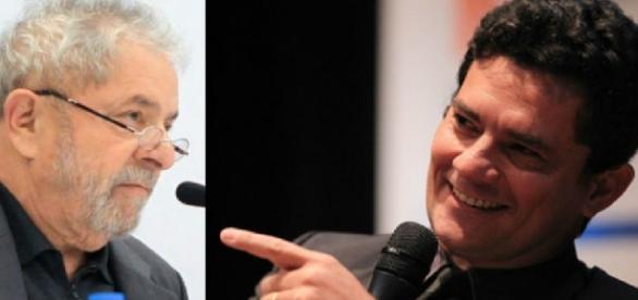 Lula e Sérgio Moro - Foto/Reprodução