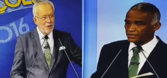 Alexandre Garcia e candidato discutem ao vivo