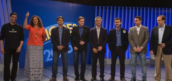 Candidatos que participaram de debate no Rio