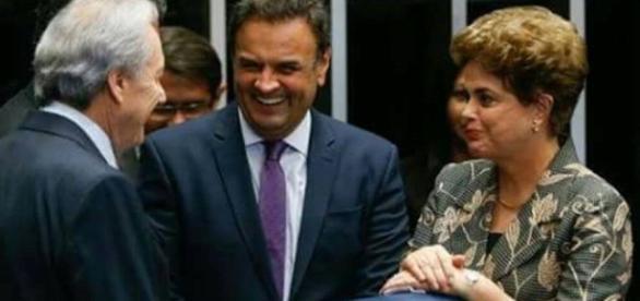 Imagem do Dia: Dilma,Aécio Neves e Ricardo Lewandowski em clima de ... - com.br