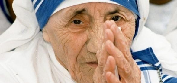 Foto da irmã Tereza de Calcutá