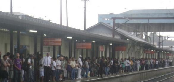 Foto da linha 11 do metrô Brás Cuba (crédito: Google)