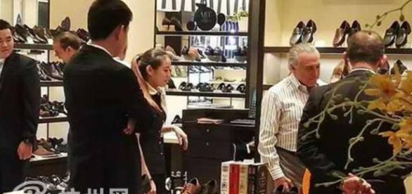 Michel Temer vai às compras na China