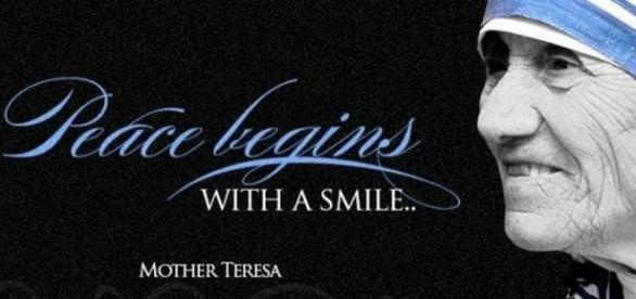 """""""Peace begins with a smile.""""- Mother Teresa. / Photo by Ryan Rivera. CC BY-ND 2.0, via Flickr.com"""