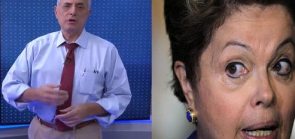 William Waack e Dilma Rousseff