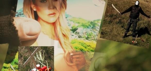 In diesem Musicvideo stirbt Jessica, ihr Bild liegt auf dem Grab