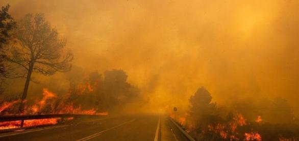 Incendie dans la région de Valence en Espagne