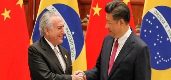 Michel Temer fechou acordos com o presidente da China (Foto: Reprodução)